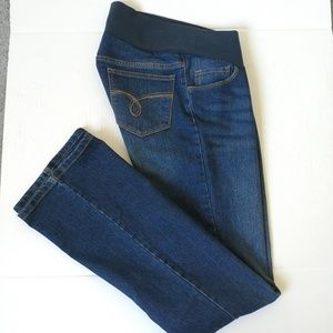 Motherhood Maternity bootcut dark jeans sz S